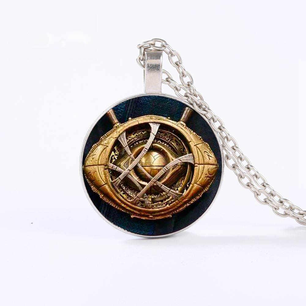 GDRGYB docteur étrange oeil d'agamotto collier Dr. Strange Infinity pierre motif verre Cabochon colliers pendentifs enfants cadeau