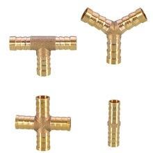 1 шт латунный фитинг для труб 2 3 4 способа соединителя мм 6