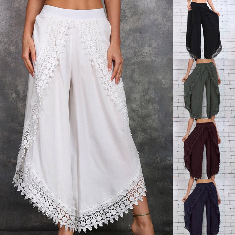 Hot Sell Women Pants 2020 Summer Fashion Trousers Linen Loose Casual Pants Plus Size
