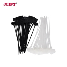 100Pcs 4inch Tag Ties Nylon Plastic Cable Marker Self Locking Write On Wire Marking Label Zip With Mark Tags