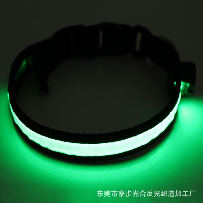 Pet Supplies Single Side Pet Collar USB Charging LED Luminous Dog Collar