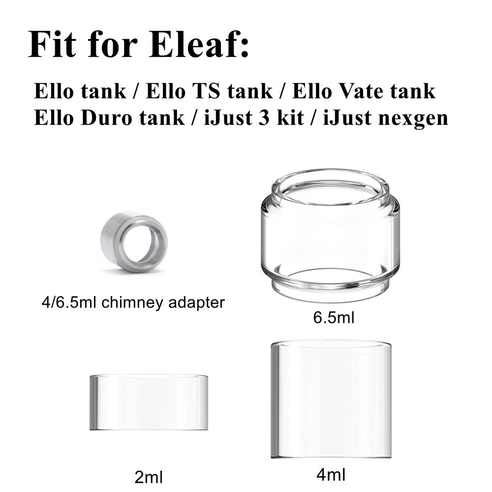 Hongxingjia Vape Accoressories Glass Tube Tank Drip Tip 810 Connector Adapter For Eleaf Ijust 3 / Ello Duro Tank Atomizer