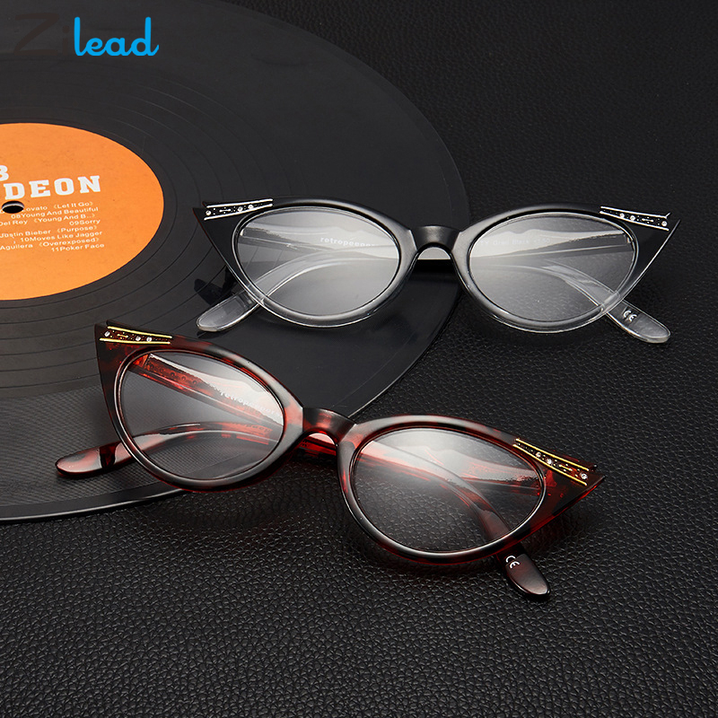 Zilead Cat Eye Reading Glasses Women Diamond Eyeglasses Presbyopic Diopter 0 1.0 1.5 2.0 2.5 3.0 3.5 4.0 For Male Female Eyewear