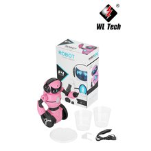 WLtoys F4 Camera Mini Robot Walk Music Dance Wifi Gesture G-Sensor Control Kids Toy Programming Obstacle Avoidance Two-Wheeled