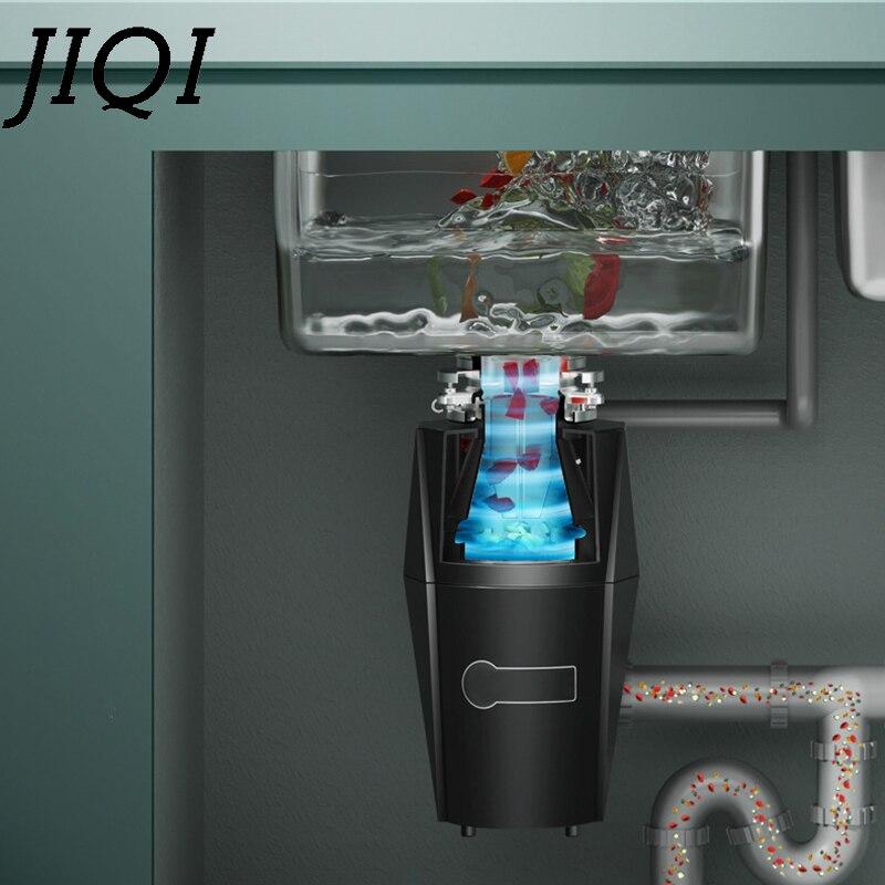 JIQI измельчитель пищевых отходов с дистанционным управлением, кухонный измельчитель мусора, измельчитель для удаления остатков, лезвие из нержавеющей стали, ЕС 3