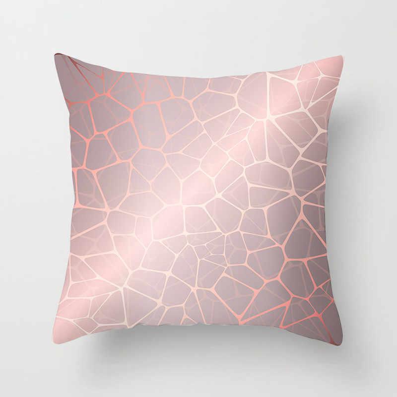 Fuwatacchi Nordic Stijl Kussenhoes Roze Gestreepte Diamant Kussensloop voor Sofa Thuis Geometrische Decoratieve Kussens 45*45cm