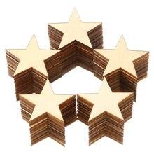 Деревянные звезды вырезы необработанные деревянные пустые части