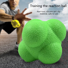 3PCS Hexagonal Trainning Ball Outdoor Fun Reaction Silicone Agility Coordination Reflex Exercise Fitness Training