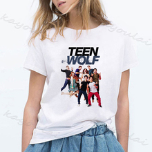 Fashion Movies Teen Wolf Harajuku T Shirt Women 90s White Vi