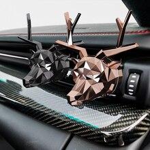 Nenhuma caixa de perfume fresca design de cervos, bulldog, purificador de ar do carro, boa cheira para difusor do carro, aromatizador automático