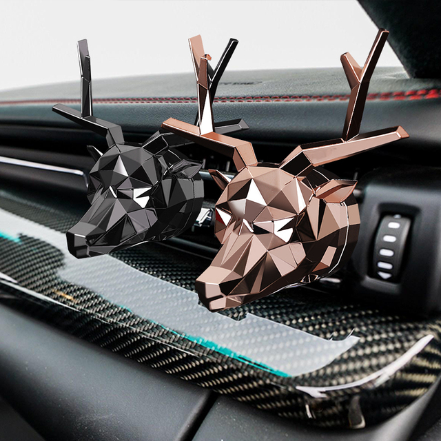No Box No Perfume Cool Deer Design Bulldog Air Freshener Car Perfume Good Smell for Car Diffuser Auto Flavoring