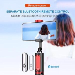 Image 4 - Bonola Bluetooth טלפון Selfie מקל חסון נסתרת חצובה כף יד Selfie מקל קל משקל נייד שידור חי סוגר מרחוק