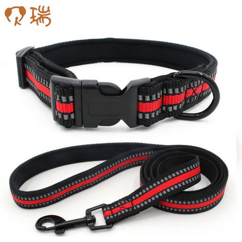 Comfortable Diving Cloth Underlay Bag Dog Collar Reflective Woven Tape Hand Holding Rope Berry Pet Supplies 2019 New Style