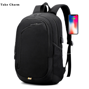 New Waterproof Lightweight Laptop Backpack Casual Men's Business Travel Travel Bag USB Charging Women's Bag 2018 new oiwas laptop business backpack lightweight waterproof traval backpack solid color two colors for male bag