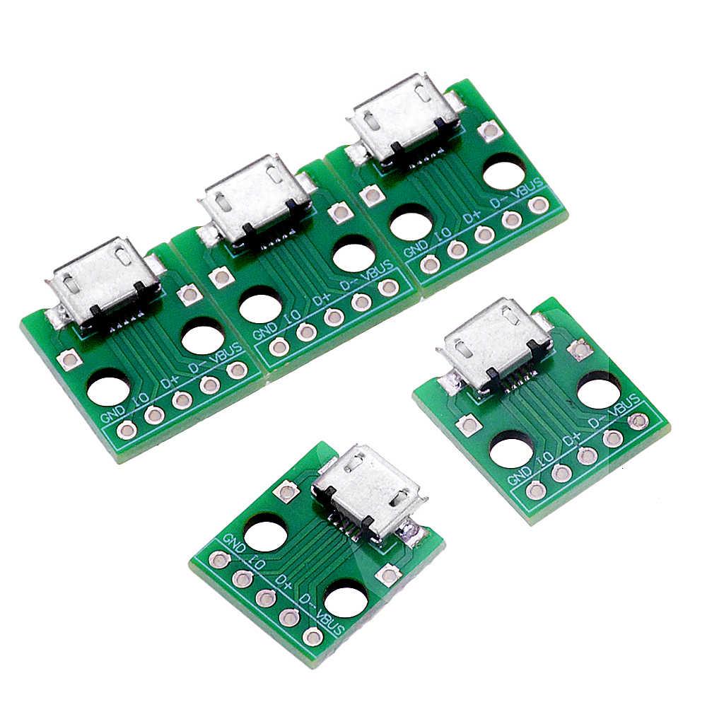 10 قطعة المصغّر USB إلى DIP محول 5pin موصل سالب B نوع PCB محول لوحة توزيع SMT الأم