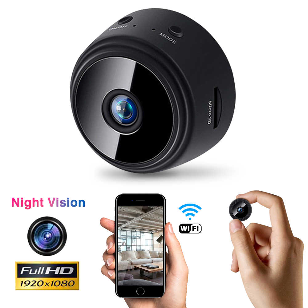Mini WIFI IP Kamera Wireless Tersembunyi Keamanan Rumah DVR Malam Visi Motion Detect Mini Camcorder Loop Perekam Video