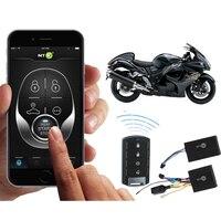 GPS Tracker Sicherheit Alarm-System Echt-Zeit Anti Dieb Motor Start/Stop Durch App oder Fernbedienung für Auto motorrad NTG02M