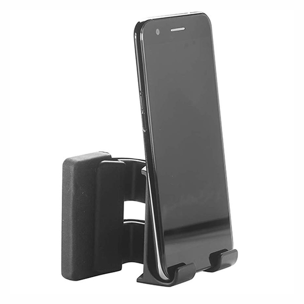 Smartphone Mounts Stand  Safty Cellphone Holder With Silicon Spacer For Phone Fixed Clip On Flat Slim Monitor Laptop Monitor