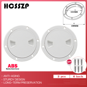 """Image 1 - 2 Pcs 6"""" ABS Round Inspection Hatch Tight Screw Out White Anti corrosive Inspection Access Deck Plate for Marine Boat Yacht"""