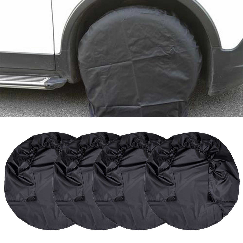 4 stuks Set Wiel Tire Covers voor RV Truck Auto Camper Trailer Nuttig Black Pro Hot