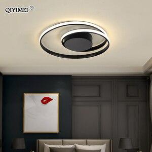Image 5 - Modern Ceiling Lights LED Lamp For Living Room Bedroom Study Room White black color surface mounted Ceiling Lamp Deco AC85 265V