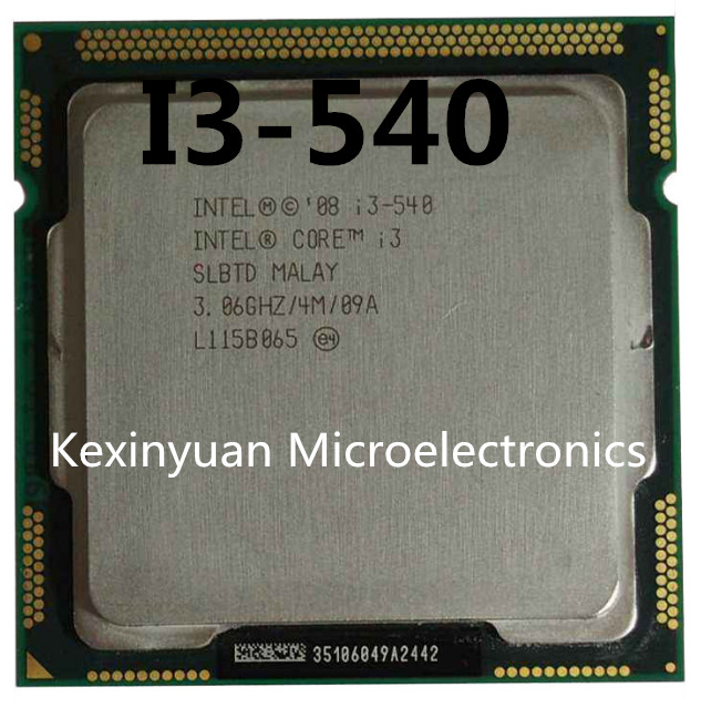 Intel Core I3-540 I3 540 Processor (4M Cache, 3.06 GHz) CPU LGA 1156 100% Working Properly Desktop Processor