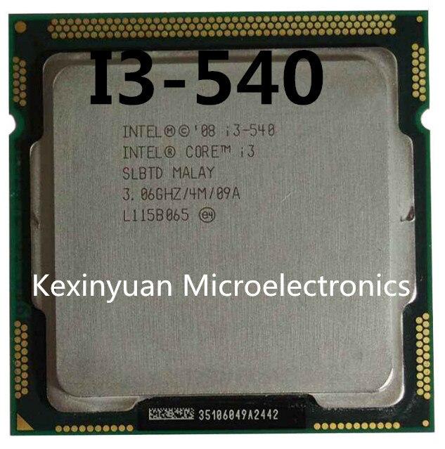 Intel Core i3-540 I3 540 Processor (4M Cache, 3.06 GHz) CPU LGA 1156 100% working properly Desktop Processor