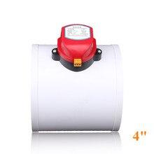 4 นิ้วพลาสติก Air Damper HVAC ไฟฟ้าท่อวาล์ว Actuator สำหรับ Vent ท่อวาล์ว 220 V,12 V, 24VDC,110 มม.