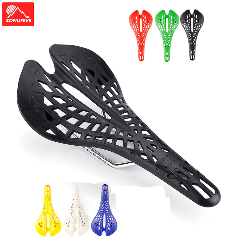 Mountain Road Bicycle Hollow Spider Saddle MTB Bike Cycling Bicycle Seat Cushion
