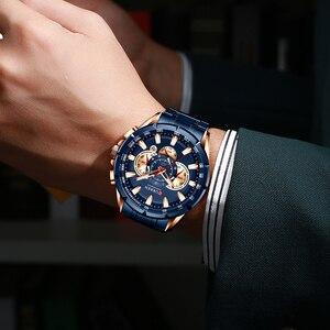 Image 4 - CURREN – Nouvelle montre sport décontracté chronographe pour homme, Bracelet sportif, grand cadran, en acier inoxydable, avec aiguilles lumineuses, collection récente, moderne, disponible en cinq couleurs différentes