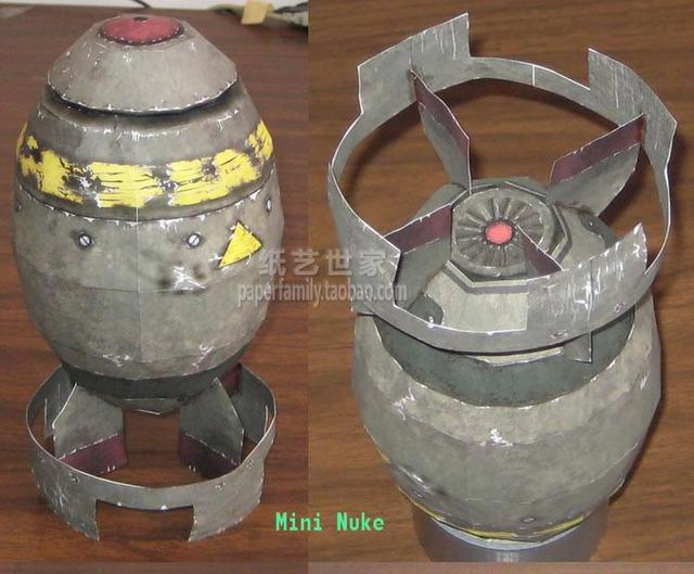 25cm Missile Bomb Atomic and Hydrogen Bombs 3D Paper Model DIY Radiation Small Miniature Bombs Homemade for Kids 1