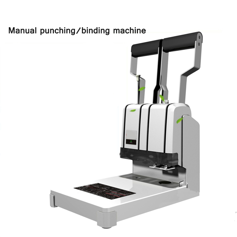 Binding Machine Financial Manual Punching Automatic Hot-Melt Riveting Pipe Double-Arm Labor Saving Punching And Binding Machine