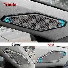 Tonlinker наклейки для внутренней обложки автомобильного порога твитера для Volkswagen Jetta MK7 2019-20 Стайлинг автомобиля 2 шт. металлические наклейки дл...