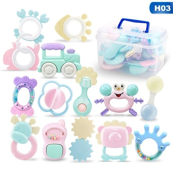 6/8/14Pcs Jingle Shaking Bell Baby Toys Hand Hold Hand Shake Bell Ring Infant Rattles Toys Newborn Baby 0-12 Months Teether Toys недорого