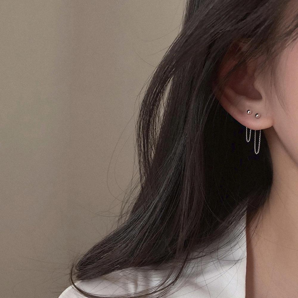 Корейские модные украшения, серьги с кисточками в стиле ретро, длинные висячие серьги, металлические серьги-цепочки, оптовая продажа, крупн...