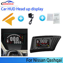 liislee car hud head up display for honda accord civic 2015 2016 safe driving screen projector refkecting windshield XINSCNUO For Nissan Qashqai 2016-2019 2020 Safe Driving Screen Full Function OBD Car HUD Head Up Display Projector Windshield