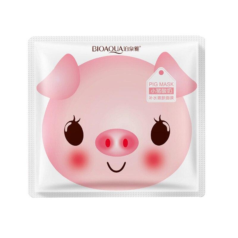 Bioaqua свинья молоко маски для лица питательные увлажняющие отбеливающие против старения морщинки Усадочные поры осветляющие уход за кожей