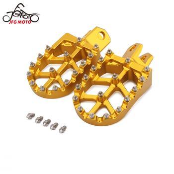 Motorcycle CNC Footrest Footpeg Foot Pegs For SUZUKI RM125 RM250 RM250Z RMX250 DRZ 400 400E 400S 400SM For Kawasaki KLX400R