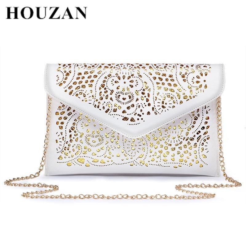 Solid-Women-Envelope-Bag-Fashion-Women-s-Clutch-Bag-Hollow-Out-Designer-Messenger