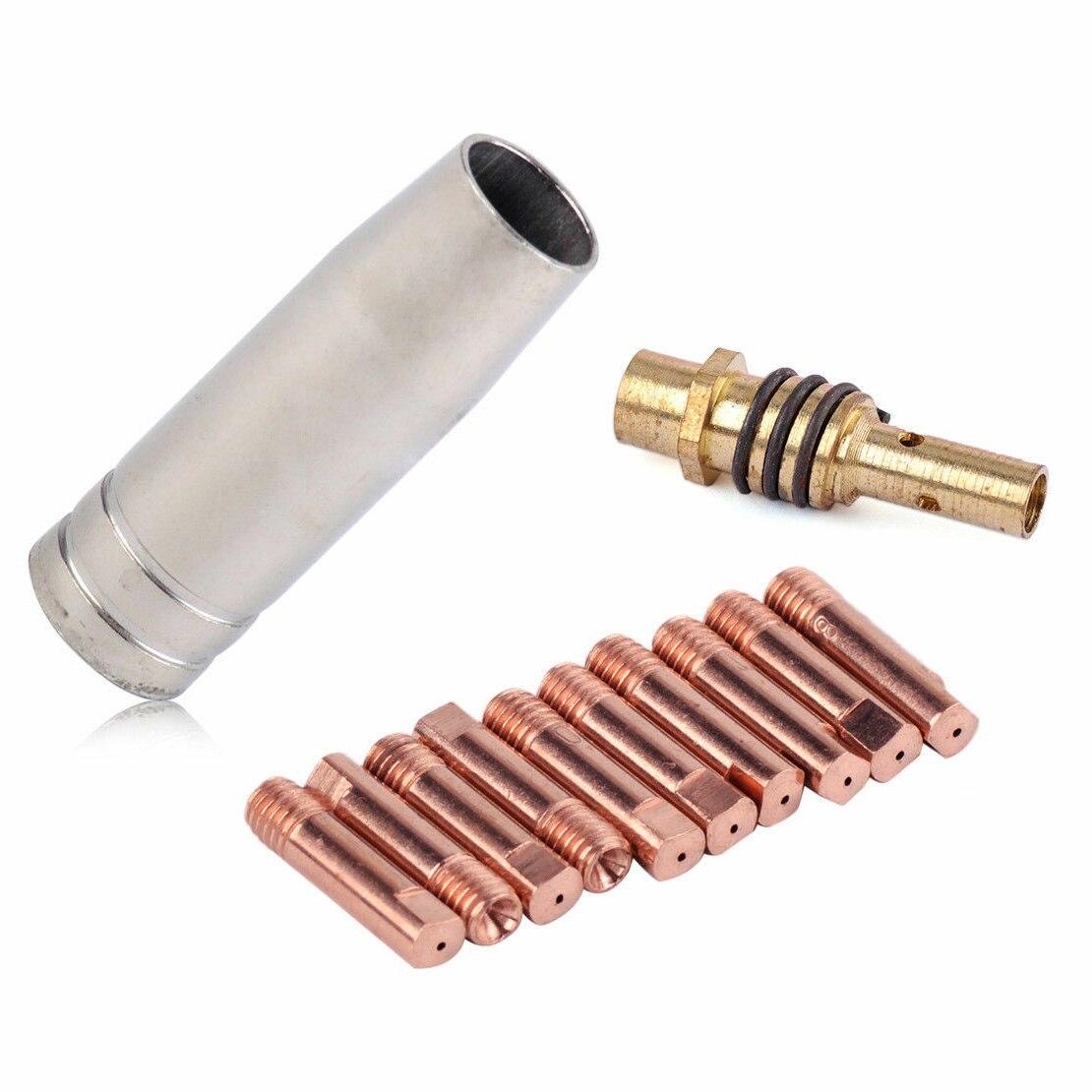 12 boquillas accesorios de soldadura set MIG/Soldadura MAG puntas 0,8x25mm