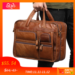 JOYIR Echtem Leder Männer Aktentaschen Laptop Casual Business Tote Taschen Schulter Umhängetasche männer Handtaschen Große Reisetasche