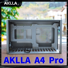 AKLLA A4 Pro mini ITX computer case large desktops water-cooled pc gamer aluminum atx  gaming chassis