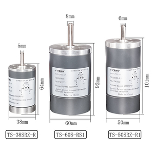 Электродвигатель постоянного тока SRZ, диаметр 38/50/60 мм, постоянный ток, 12 В, 24 В, высокая скорость 2000/3000/4000/5000 об/мин, высокое качество, двигател...