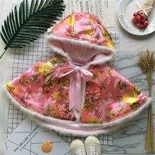 Tonytaobaby Winter New Baby Girl Embroidered Girls' Shawl Cape Girls Coat