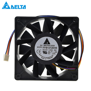 For Delta FFB1212EHE 120*120*38mm 12038 high speed DC 12V 3.0A for bitcoin miner case cooling fan powerful цена 2017
