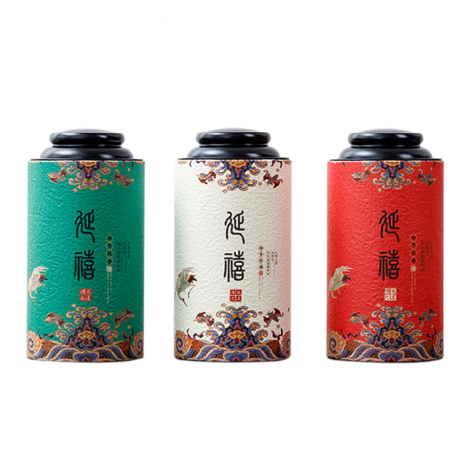 Star Packaging Tin Insert Cover For Tea Packing Hot Sale 4 Color Printed Paper Tube Box