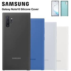 Image 1 - Официальный оригинальный силиконовый защитный чехол для Samsung Galaxy Note 10 Note10 NoteX Note 10 Plus мобильный телефон