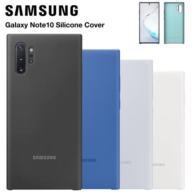 Samsung oficjalny oryginalny silikonowy pokrowiec ochronny do Galaxy Note 10 Note10 NoteX Note 10 Plus obudowy do telefonów komórkowych