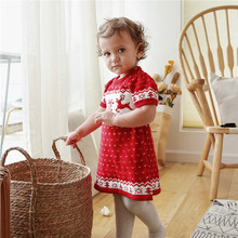Knitted Baby Dress Christmas Baby Girl Clothes Deer Baby Girl Dress