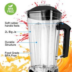Image 5 - Minuterie sans BPA 3HP 2200W mélangeur Commercial mélangeur presse agrumes puissance robot culinaire Smoothie Bar fruits mélangeur électrique